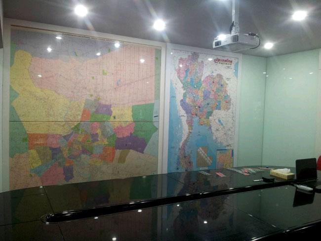 รับจัดทำบอร์ด Wood Board Map (บอร์ดแผนที่ห้องประชุม)