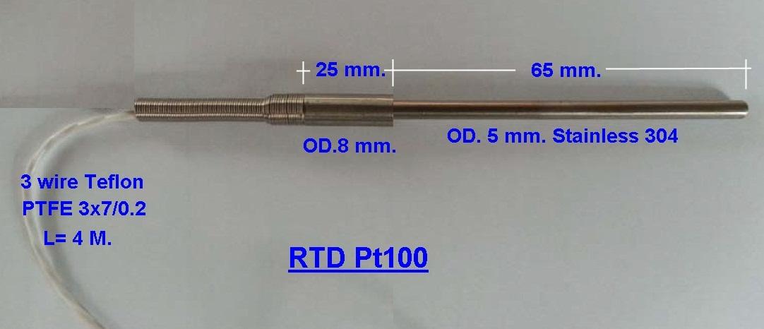 ขาย จำหน่าย RTD Pt100 Sensor Class A , Class B ราคาถูก ด่วน