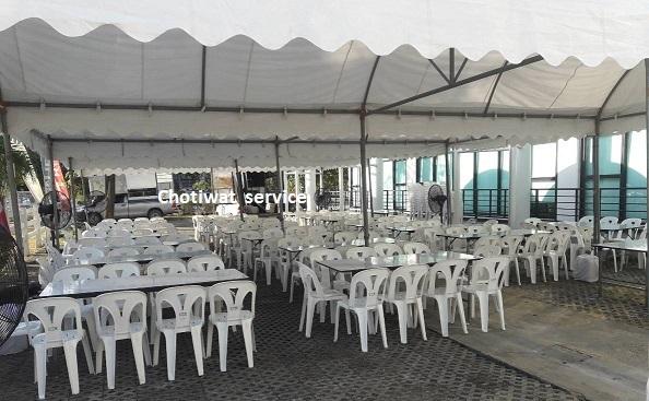 บริการให้เช่าโต๊ะเหลี่ยม โต๊ะกลม โต๊ะบาร์ เก้าอี้ Chotiwat service  086-6998598, 089-1291895