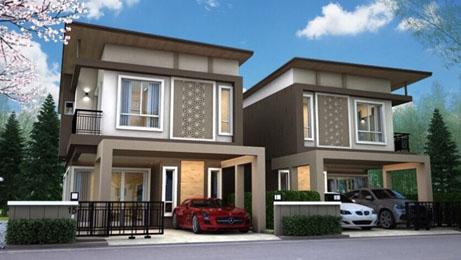 บ้านแฝด สไตล์บ้านเดี่ยว บ้านใหม่ (ขาย/ให้เช่า)  สิปัญ วิลล์ โครงการบ้านใกล้นิคมอีสเทิร์นซีบอร์ด  นิคมเหมราช ปลวกแดง